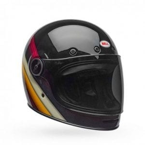 Casco Bell Bullitt Burnout Black/White/Maroon