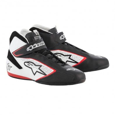 Zapatillas Auto Alpinestars Tech-1 T Black White Red