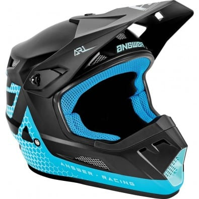 Casco Moto Answer AR-1 Charge Astana - Seafom - Black