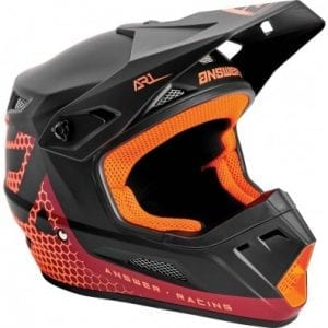 Casco Moto Answer AR-1 Swish Berry – Flo Red – Black