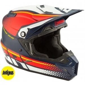 Casco Answer AR-5 Korza MIPS MIDNIGHT/RED/WHT