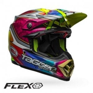Casco Bell Moto-9 Flex Tagger Green/Black/White