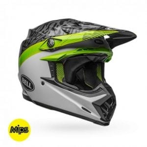 Casco Bell Moto-9 Mips Chief M/G Black/White/Green