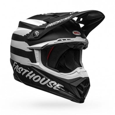 Casco Bell Moto-9 Mips Fast House Signia Black/Wh