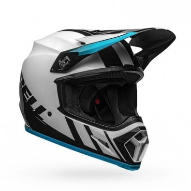 Casco Bell Mx-9 Mips Dash White-Blue Black