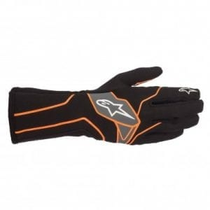 Guantes Karting Alpinestars Tech-1 K V2 Black-Red-Org-FL